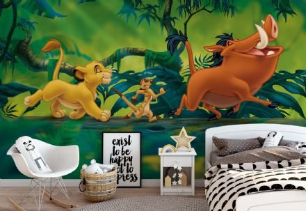 Non-woven wallpaper Lion King Disney